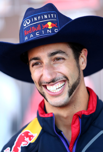 Ricciardo: Indiana Jones aderiu ao visual cowboy no GP dos EUA (Foto Getty Images)