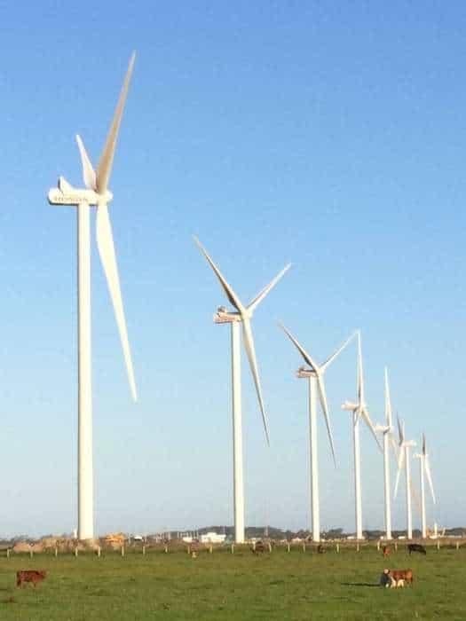 Parque eólico da Honda em Xangri-Lá, no Rio Grande do Sul