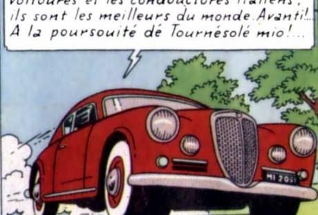 É claro que tinha que ter um B20 GT numa aventura do meu herói Tintin (foto: www.pinterest.com)