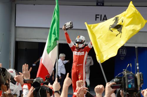 Vettel, o mais italiano dos alemães (foto Ferrari)