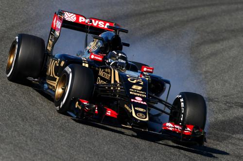 Romain Grosjean andou bem nos treinos, mas abandonou na primeira volta (Foto Lotus F1 Team)