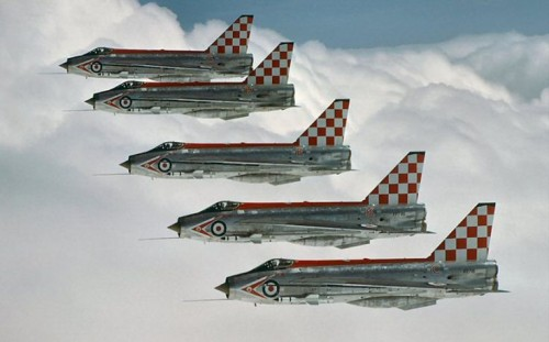 Firebirds, esquadrão de acrobacias da RAF que durou apenas um ano (thunders-and-lightnings.co.uk)