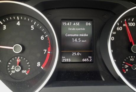 De Sumaré a SP, cerca de 90 km de distância cumpridos a 120 km/h: excelente marca de 14,5 km/l.