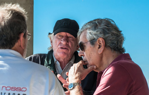 Jan Balder e Bob Sharp: velhos companheiros de automobilismo (foto Irineu Desgualdo Jr)