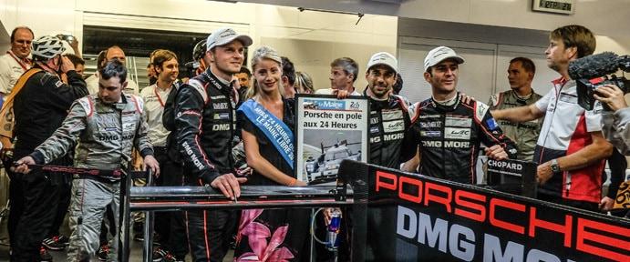 Porsche Claim Pole For the 2015 Le Mans 24hr - Le Mans 24 Hours at Circuit Des 24 Heures - Le Mans - France