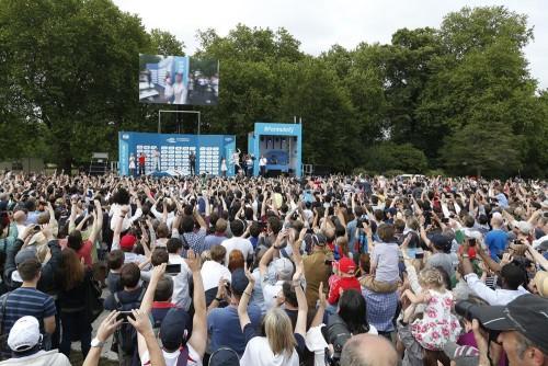 Cerca de 25 mil pessoas acompanharam a final da F-E em Londres (foto FiaFormula E)