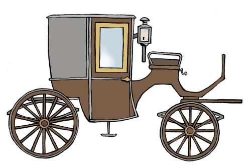 A carruagem desenhada pelo LordeBrougham (Wikipedia)