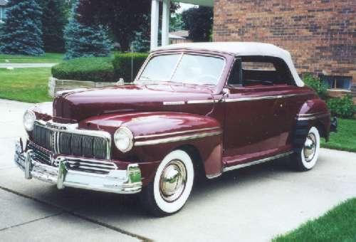 Mercury conversível 1947, até hoje um belíssimo carrão americano