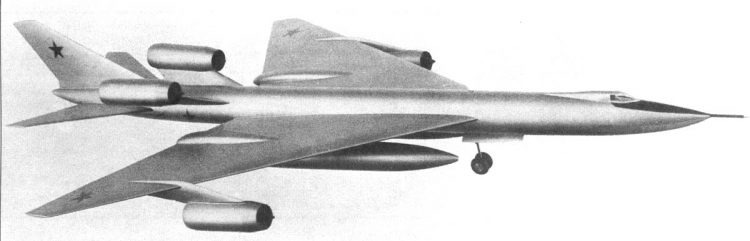 Um dos muitos modelos de propostas para o M-50 (testpilot.ru)