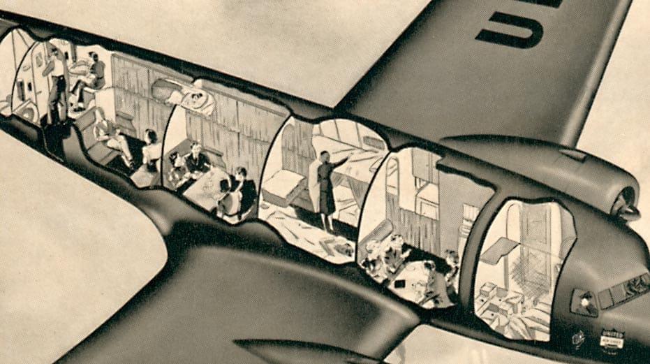 DC-3 SLEEPING CORTE