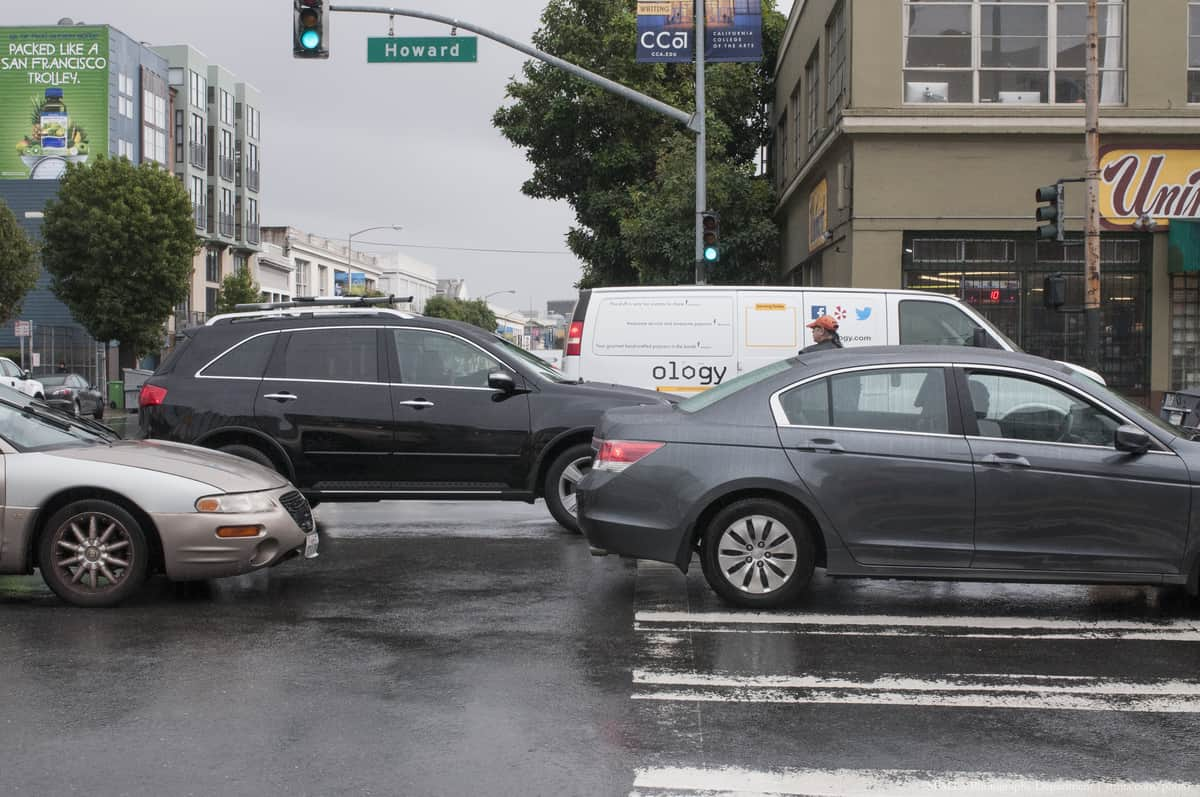 Traffic Blocking Intersection and Crosswalk | October 31, 2014