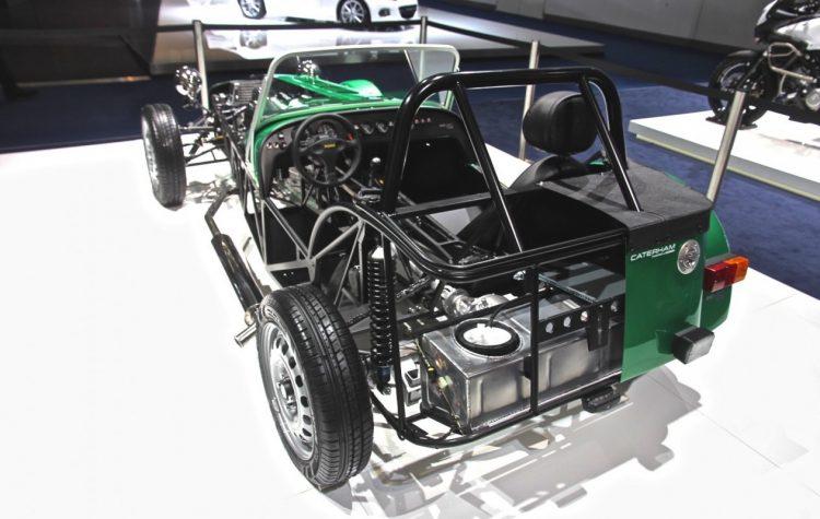 O Seven modelo 160, o mais básico da linha, mostrando seu chassis tubular