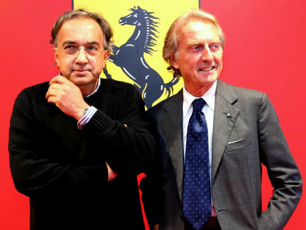 Só o tempo dirá se é possível que Sergio Marcchione (E) e Luca di Montezemolo voltem a ser felizes para sempre (foto Ferrari)