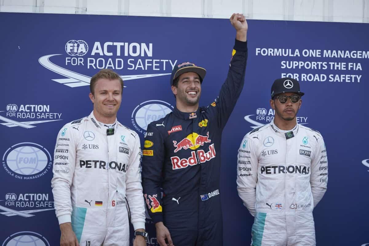 Pole posiiton em Mônaco, Daniel Ricciardo é a verdadeira ameaça ao domínio da Mercedes (Foto Mercedes)