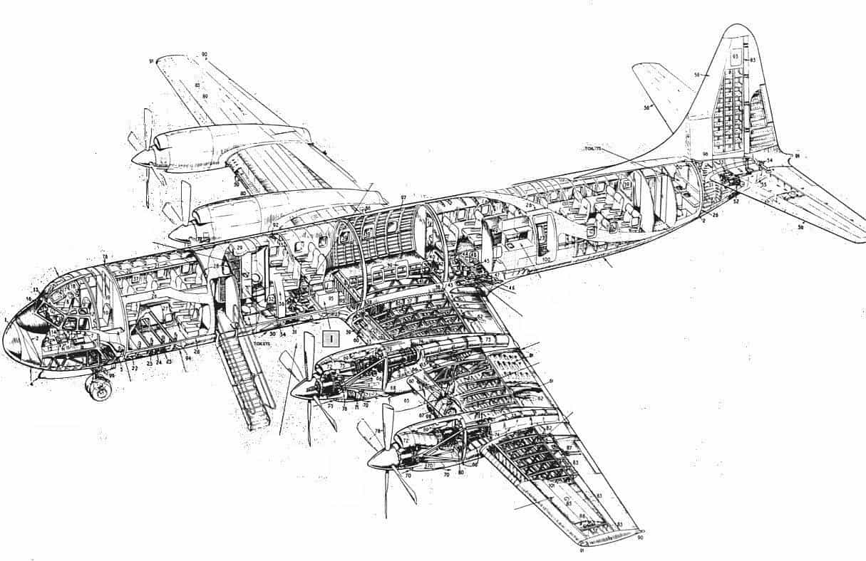 Lockheed Electra L-188 wireframe