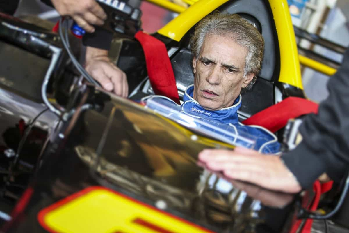 Alfredo Guaraná, o maior rival de Nelson Piquet na F-Super Vê, testou o novo monoposto (Foto Rodrigo Ruiz)