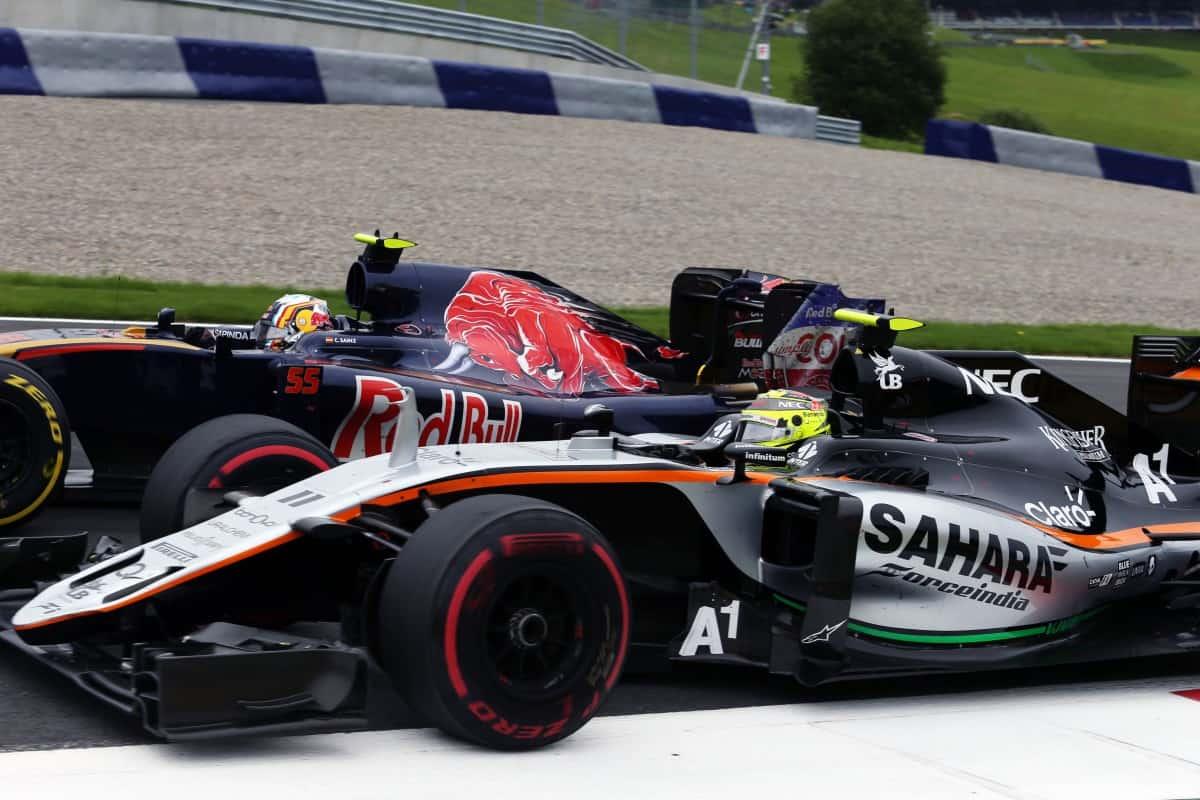 Na Áustria Sérgio Pérez bateu porque não póde ser avisado que seu carro tinha problemas com os freios (Foto Sahara Force India)