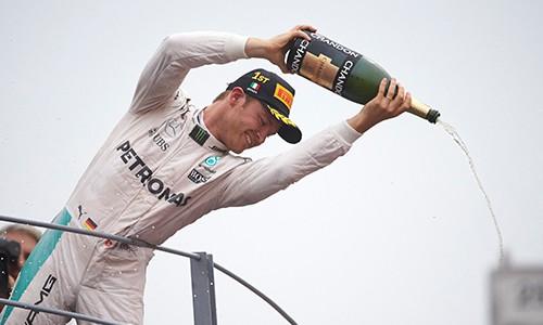 Primeira vitória de Nico em Monza (Foto Mercedes)