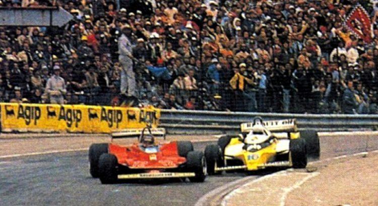 A antológica disputa entre VIlleneuve e Arnoux, em Dijon, empanpou a vitória de Jabouille no GP da França de 1979 (Arquivo pessoal)