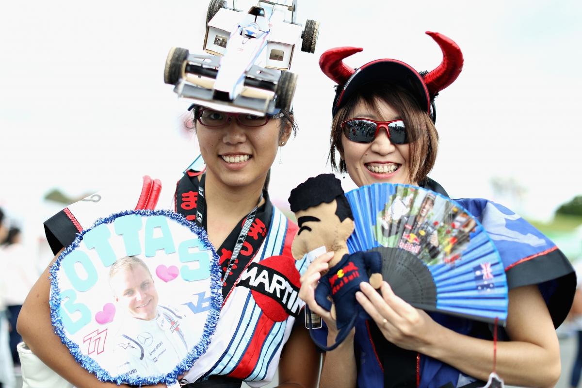 Fãs japoneses: os mais criativos e coloridos da F-1 (Foto Red Bull)