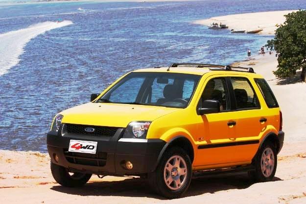 03/01/2012. Credito: Ford/Divulgacao.Vrum - Linha do tempo do EcoSport: Ecosport 2004 4x4.