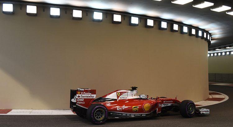 Terceiro lugar de Vettel em ABu Dhabi mostrou luz no fim do túnel para uma Ferrari em crise (Foto Ferrari)