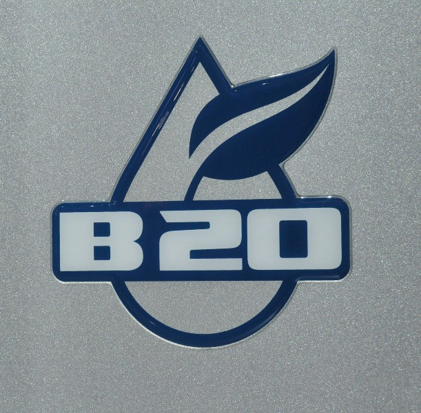 Os caminhões Ford homologados para Biodiesel B20 vem com esse logotipo ao lado das portas (www.eaemaquinas.com.br)