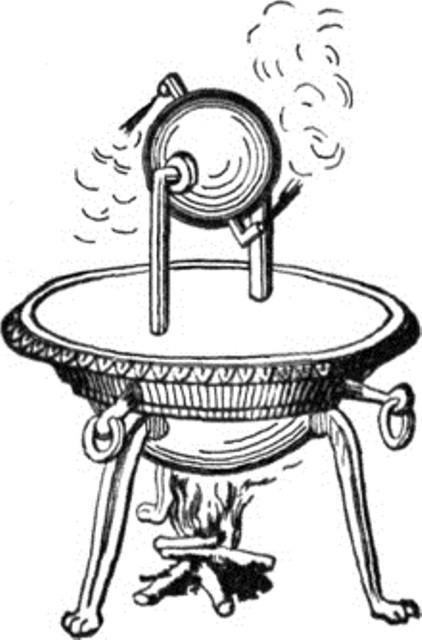 Eolipila de Heron de Alexandria. (historiofobia.blogspot.com.br/)