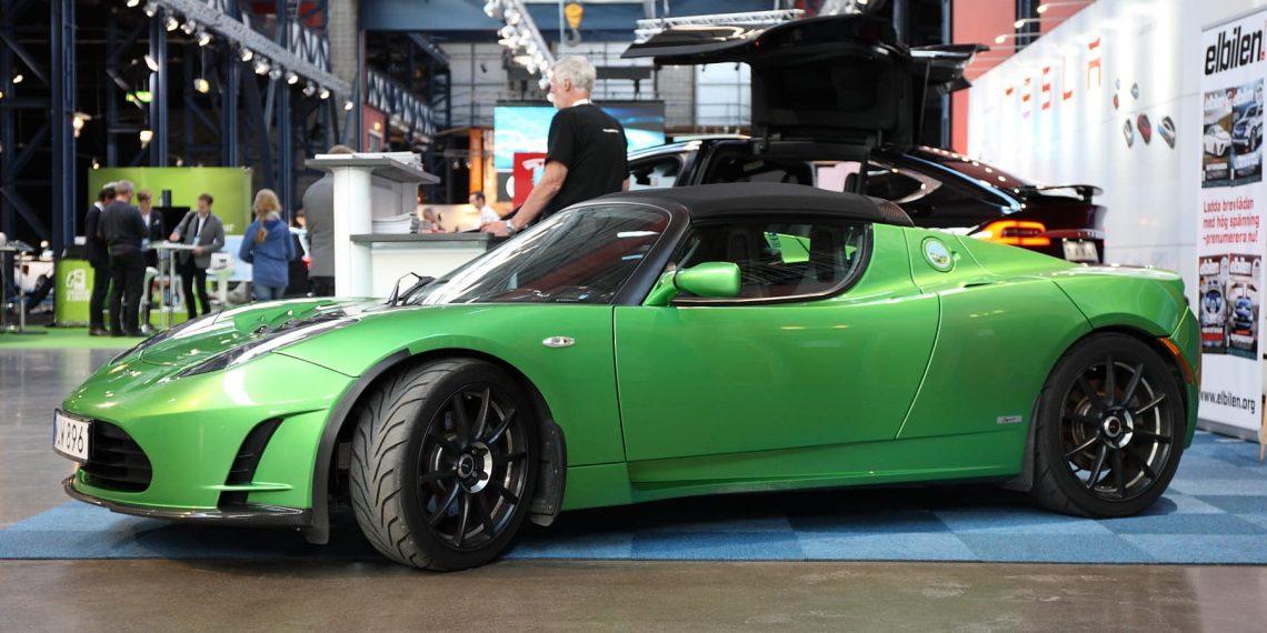 Tesla Roadster, primeiro modelo da marca, fabricado de 2006 a 2012