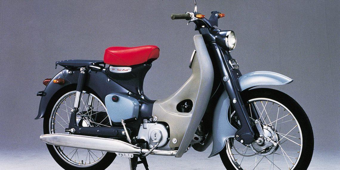 1958 Honda C100 Super Cub.