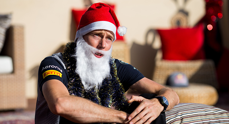Brendon Hartley em ritmo de Natal