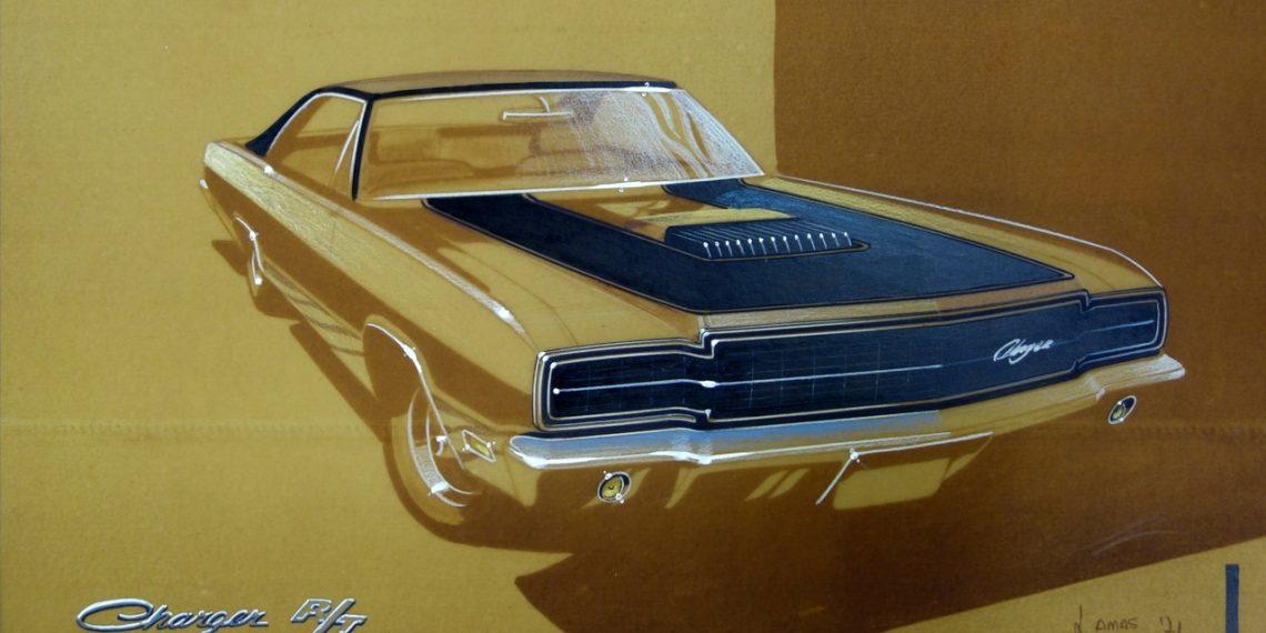 Sketche de estudo de uma nova frente feita pelo Celso Lamas, que era o chefe do estudio da Chrysler e meu primeiro chefe Designer.