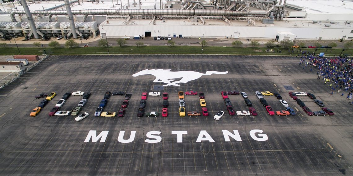 10 Millionth Mustang formation at Flat Rock Assembly Plant in Flat Rock, Mich.