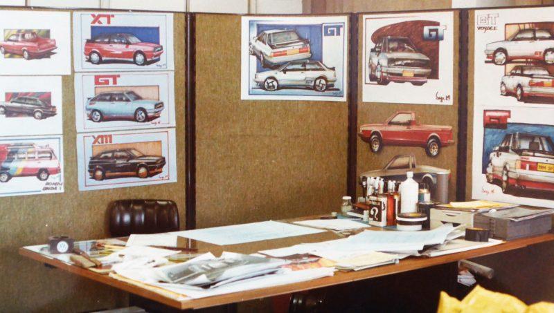 Minha mesa de designer em final dos anos 80