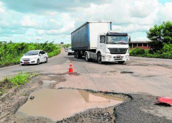 BR-116 em Chorozinho, CE (Foto Diário do Nordeste)