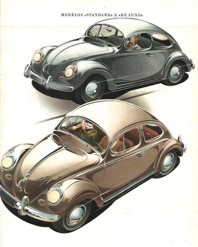 Imagem esttraída de brochura de vendes da VW de 1953 (Acervo A; Gromow)