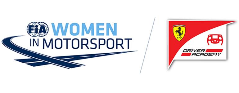 Logos da FIA e da Ferrai