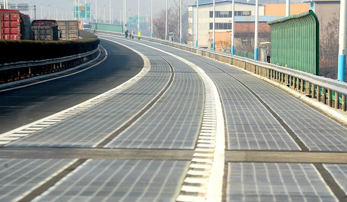 Via experimental na China para carregamento de baterias por indução (Foto: hindu.com)