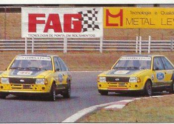 Dupla de Fords Escort do antigo Brasileiro de Marcas e Pilotos